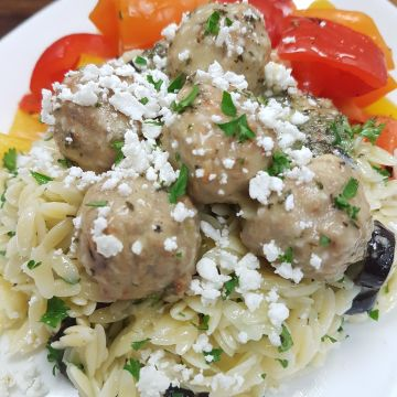 Greek Meatballs with Feta Cheese