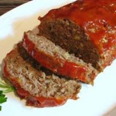 Traditional Meatloaf with Potato Wedges